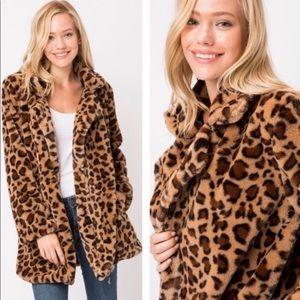 Faux Faur Leopard print Jacket